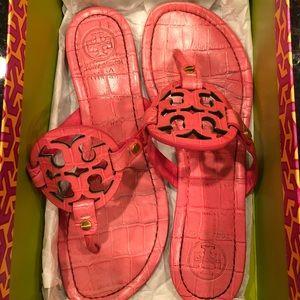 Tory Burch Miller Sandals - Lipstick Pink